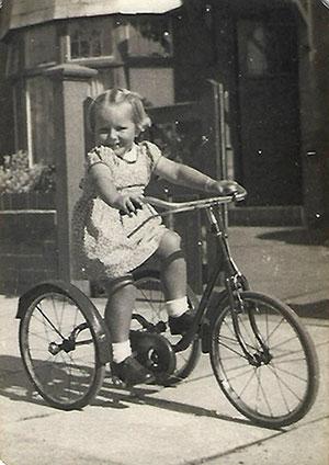 Janet riding a bike
