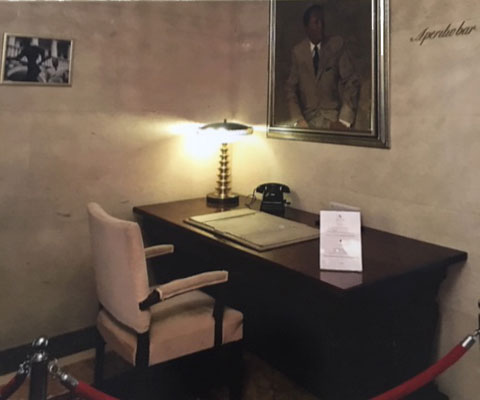 Marshal Tito's desk and telephone
